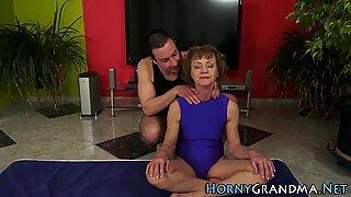 Granny gets asshole toyed