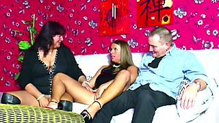 German Old Couple Seduce Girlfriend of Son