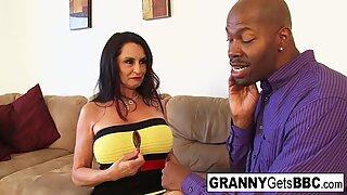 granny takes the black cock