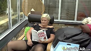 Lusty British grandma railed deep and rough by younger guy