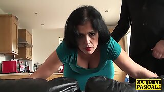 Assfucked mature submissive gets red raw