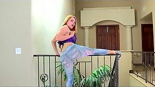 Krissy Lynn outstanding Striptease - backside Wurk Edit