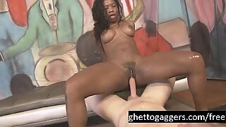 Mya Mays Goes Ass To Mouth On White DIcks