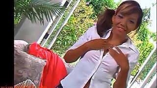 HD asian teen schoolgirl anal swallow big monster huge black cock