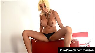 Busty Blonde Bombshell Puma Swede Dildo Bangs In Diner!