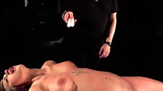 BDSM Teen in submission gets hardcore fucked and swallows as punishment