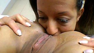 Lesbian bubble ass ass licking