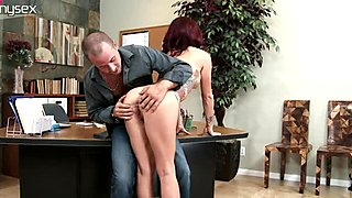Awesome brunette sexpot Monique Alexander gets pussy licked by Jessy Jones