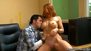 Janet Mason flirts with her boss and gets fucked