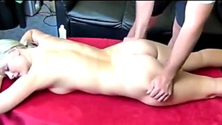 German Blond Teen Massage Doggy Cumshot Blowjob