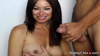 MILF Sucks Big Hard Cock On Webcam