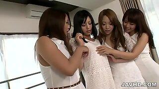 Aoi Miyama in pure lesbian teasing session
