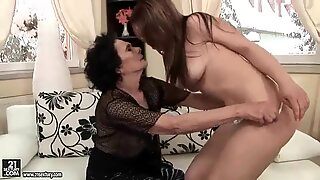 Grannies and Teens Lesbian Fuck Compilation Video