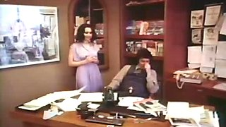 Classy brunette lady gives outstanding blowjob in the office