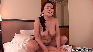 Asian Rei Kitajima is fucking a horny client uncensored