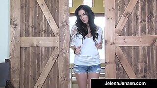Wild Long Legged Jelena Jensen Dildo Drills In The Cowboy Country!