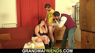two buddies film porn scene with big boobs mature woman