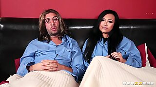 Asian bitch Gia Grace gets Keiran's massive cock in her holes