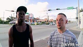 Interracial joy of homosexual guys