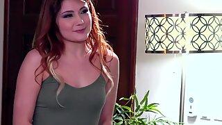 Massaged lesbian redhead rims butt
