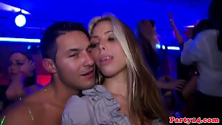 Hot Euro babes at a party horny for some dick Report this video