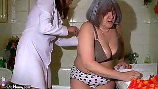 Hot Nurse Shower BBW Granny Before Sex With Her Husband