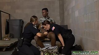 Ebony milf booty Fake Soldier Gets Used as a Fuck Toy