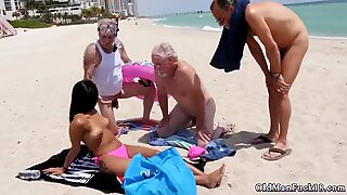Old granny fingers her ass Staycation with a Latin Hottie