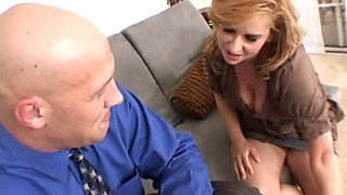 Sexy Violet Adamson gets drilled in her living room.