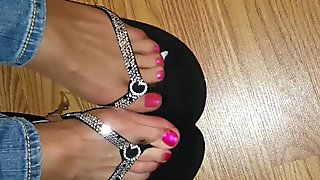 ripped nylon feet