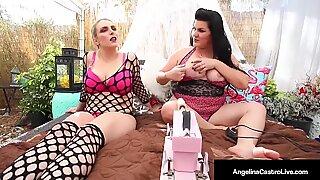 Big Babes Angelina Castro & Joslyn Jane Fucked By Auto Dick!