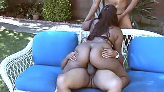 Chubby ebony babes pleasures two BBCs