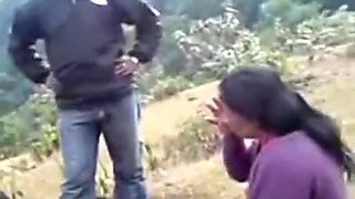 Chubby amateur ugly mature Indian whore is fucked mish outdoors