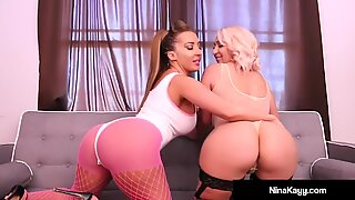 69 Loving Lesbians Nina Kayy & Richelle Ryan Scissor Fuck!