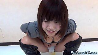 Kinky asians piss floor