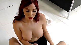 Babe loves cock with huge tits and gets covered in jizz