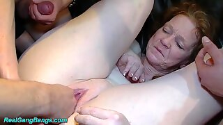 my mom first time group banged