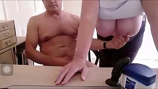 Mature couple play and cum