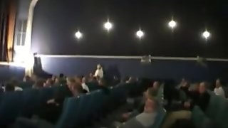 Lola gangbanged in a cinema