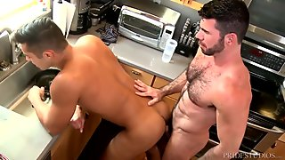 MenOver30 The Santoro Couple Hot Kitchen Sex