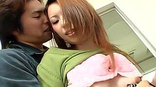 Petite Japanese slut Tomoe Hinatsu is abused by two weird creeps