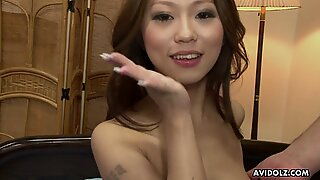 Japanese honey Ai Koda got her trimmed pussy stim