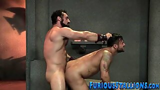 Hairy hunk gets facial