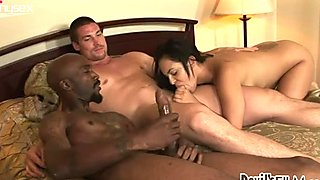 Amazing Angelina Stoli observes how dudes please each other