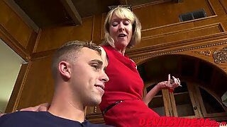 Skinny grandmother has hardcore fuck-fest with youthfull boy toy