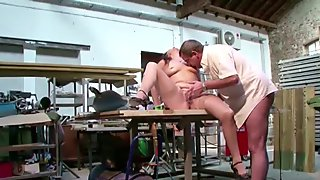 German Mother in Stockings Seduce to Fuck on Work