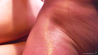 Kayla Paige takes this hard dick deep in her moist slot