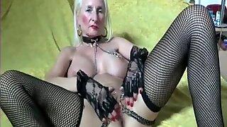 My wonderful Piercings Heavy pierced grandmother stretching poon