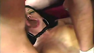 Goth beauty is fucked by group of guys