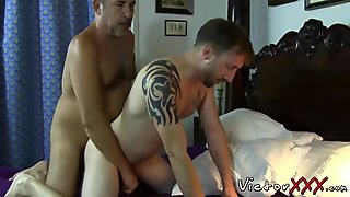 Daddy loves bareback hardcore sex